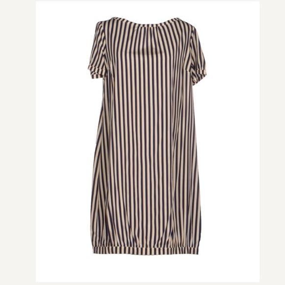 Attic and Barn Dresses & Skirts - Attic and Barn striped silk shift dress size Small